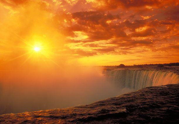 Horsehoe Falls Sunset