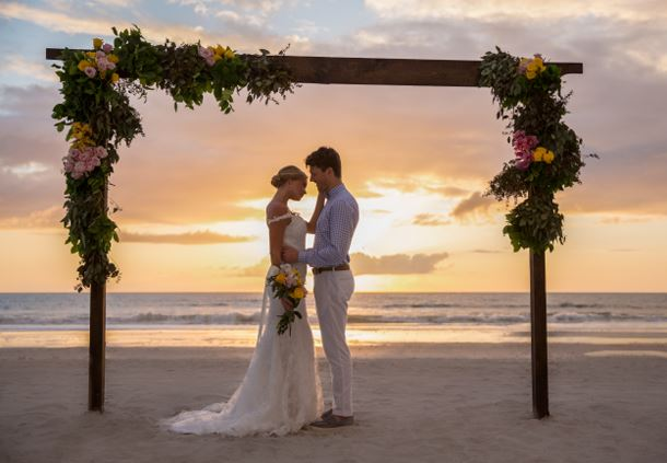 Sunset Beachfront Wedding Ceremony