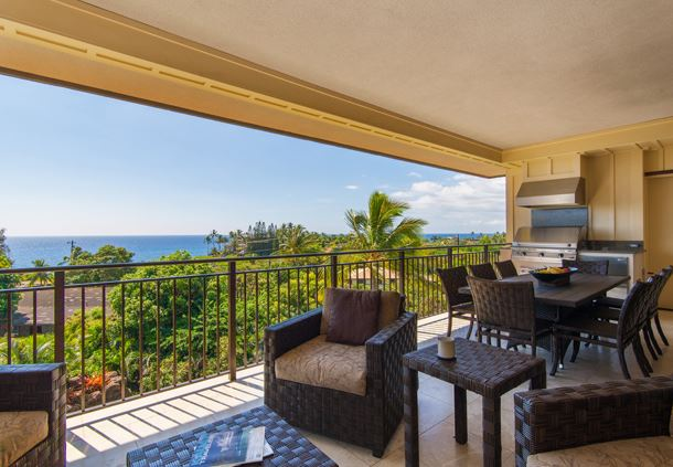 Penthouse Villa - Lanai with Barbeque Gr