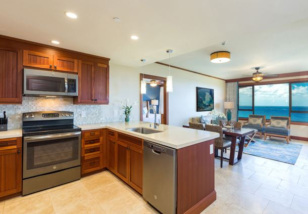 One-Bedroom Villa Deluxe Ocean View - Kitchen