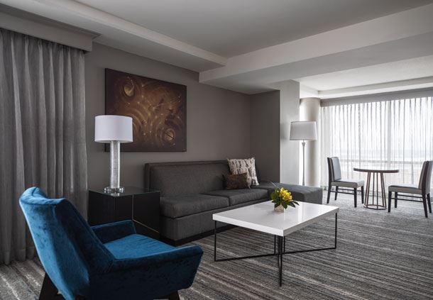 Muehlebach Tower - One-Bedroom Suite Living Area