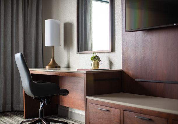 West Tower - King Guest Room Workspace