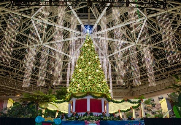 St. Augustine Atrium Decorated for Christmas