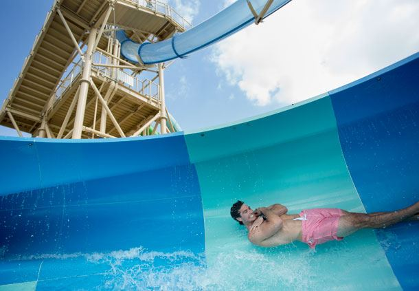 Cypress Springs Water Park - Free Fall Drop Slide