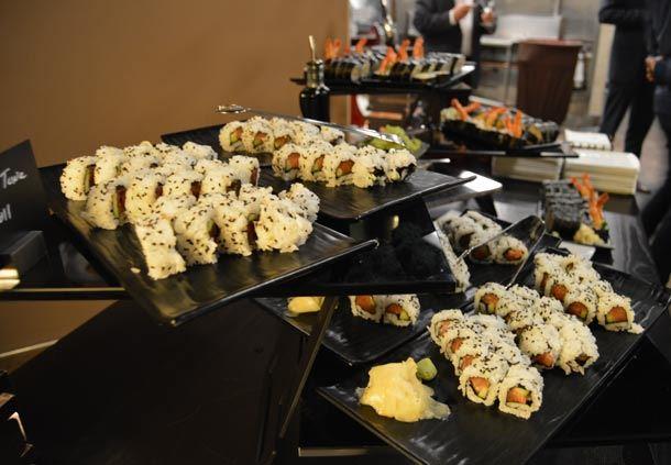 Enticing sushi made fresh