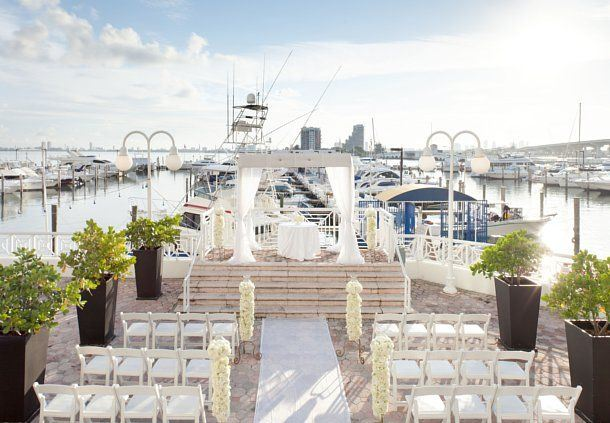 Bayfront Terrace Wedding Setup