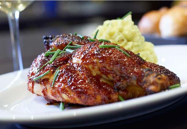 Fire Grilled BBQ Chicken