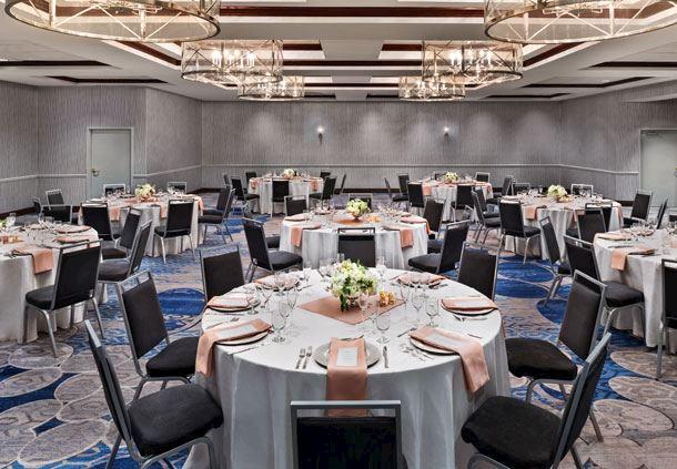 Ballroom with Wedding Setup