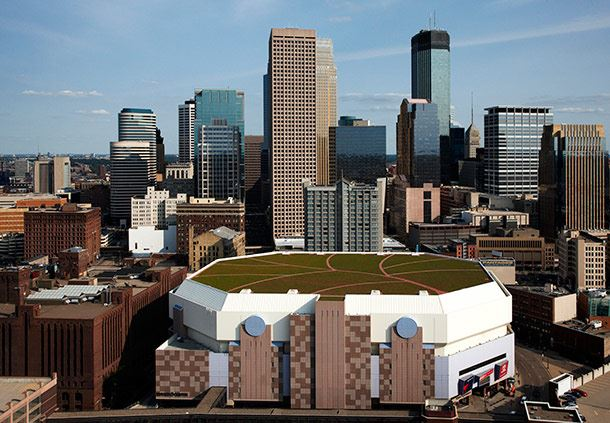 Target Center with City Skyline