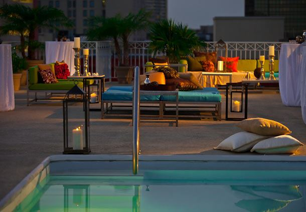 Rooftop Pool Reception