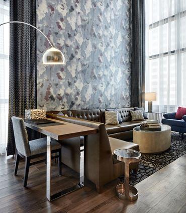 One-Bedroom Bi-Level Suite - Living Area