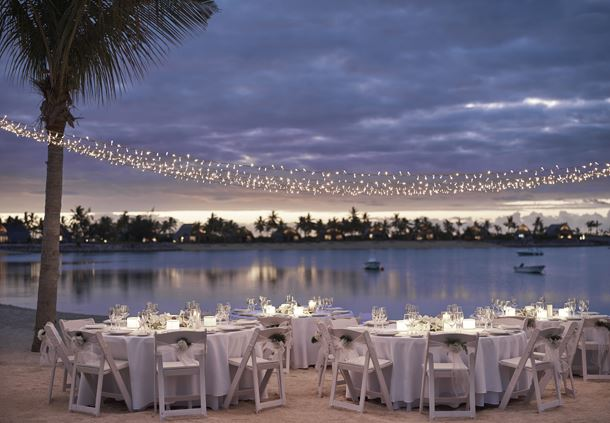 Waterfront Wedding Reception