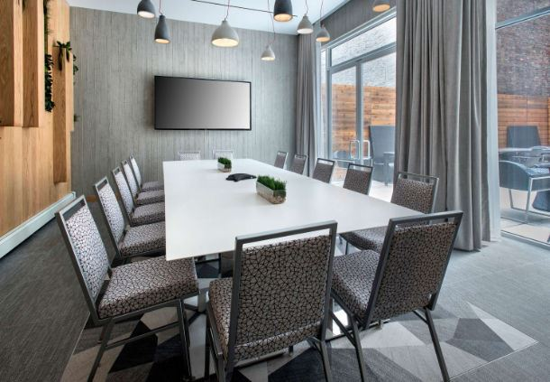 Gray Meeting Room