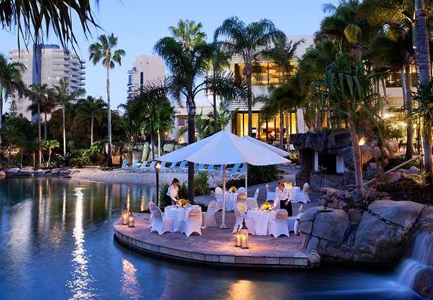 Lagoon Poolside Dinner
