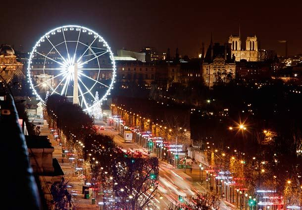 Christmas Illuminations on the Champs Elysees