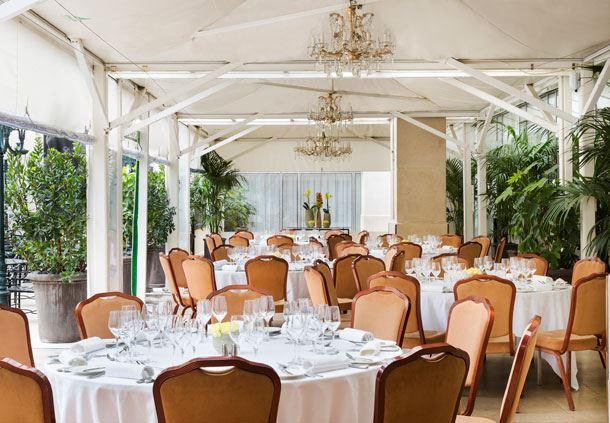 Outdoor Terrace - Banquet Setup