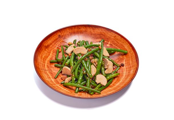 Green Beens with Duck Foie Gras
