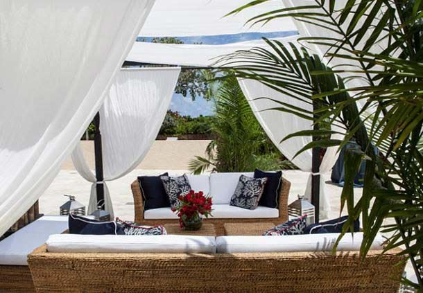Villas Outdoor Lounge Area - Cabanas