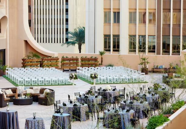 Skyline Terrace - Wedding & Reception Setup
