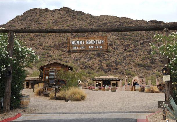 Mummy Mountain Entrance