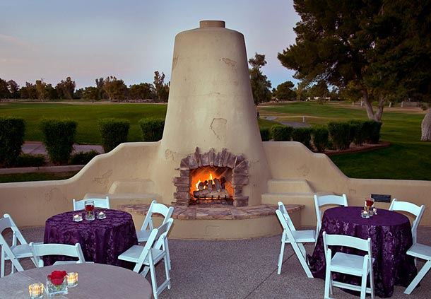 Lakeview Inn's Fireplace