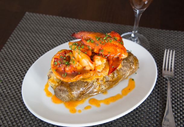 Garlic Lobster Twice Baked Potato