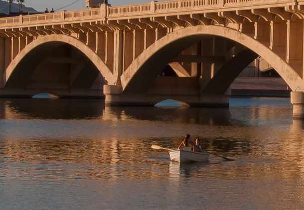 Rowing on Tempe Town Lake