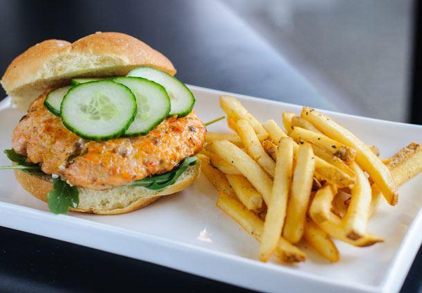 Fire Cracker Salmon Burger