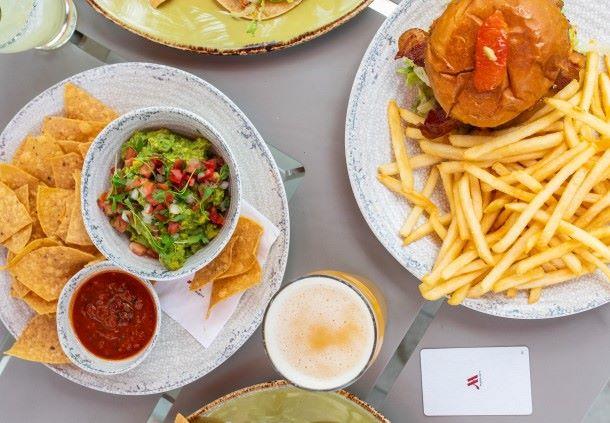 Enjoy Baja-Cali lunch or dinner al fresco.