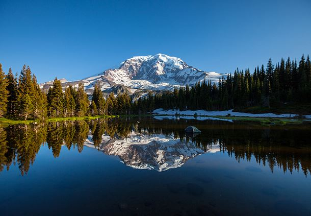Winter at Mount Rainier