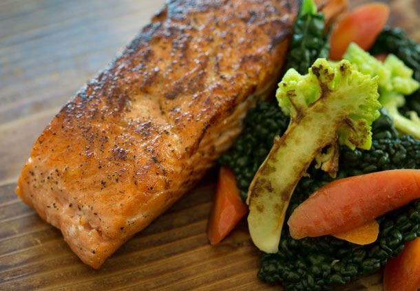 Alder Planked King Salmon