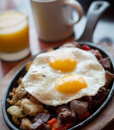 Corned Beef Hash & Fried Egg Skillet