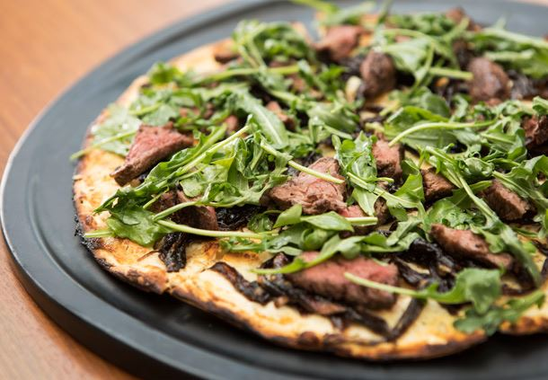 Flights 101 Steak & Arugula Flatbread