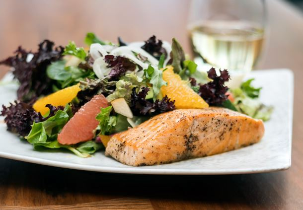 Flights 101 Salmon Citrus Salad