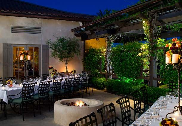 Carneros Patio at Night
