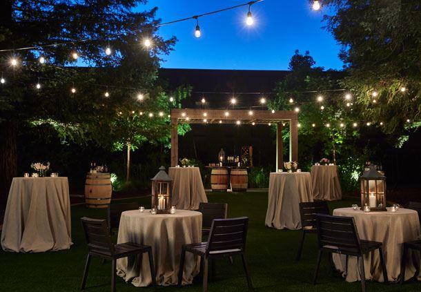 Redwood Grove - Reception Setup