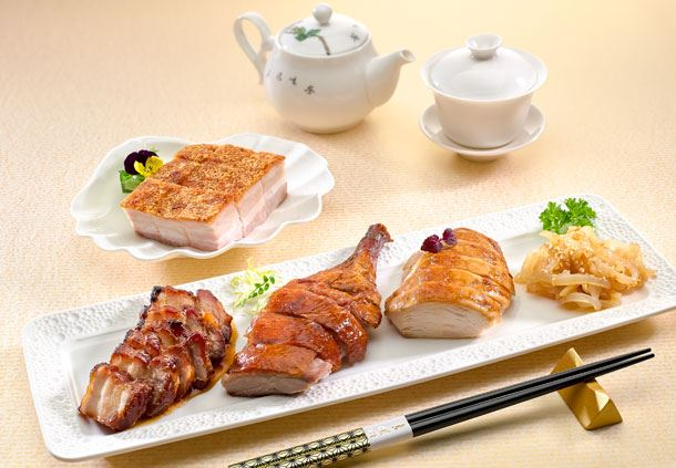 Roasted Pork & Barbecued Meat Combination