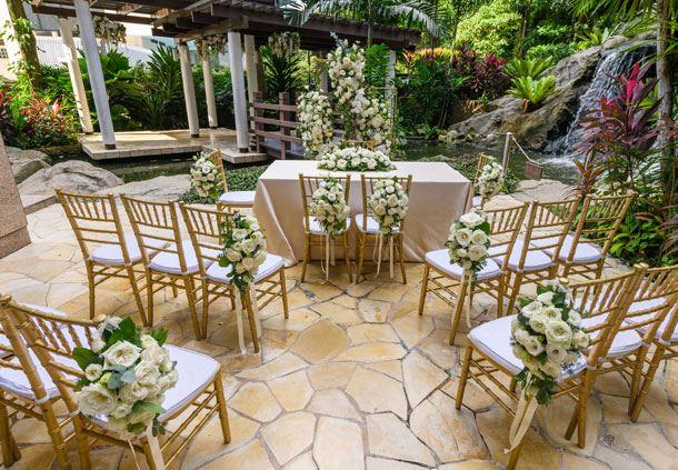 Outdoor Wedding Waterfall