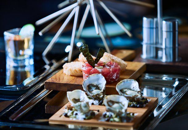 Tanq- Fresh Oysters and Tuna Tartar