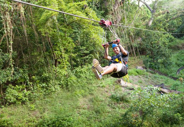 Ziplining in St. Kitts