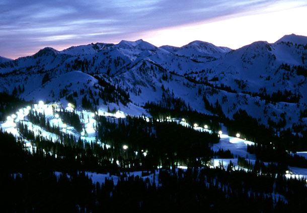 Night Skiing at Brighton Resort