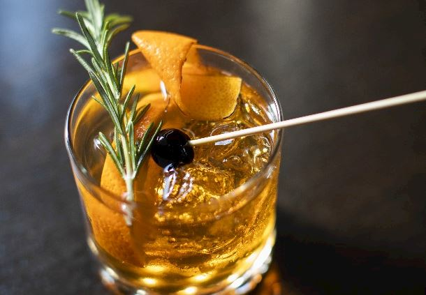 Smoked Orange and Rosemary Old Fashioned