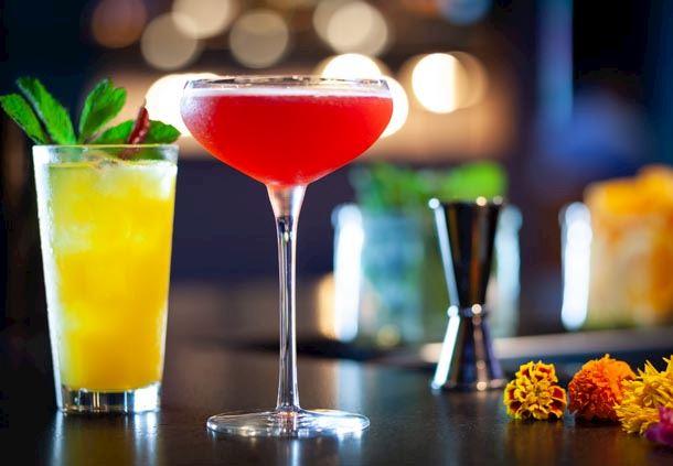Garrison Tavern - Hibiscus Seasonal Margarita