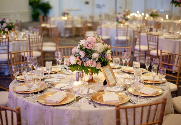 Grand Ballroom - Wedding Reception Setup