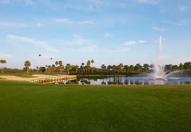 Golf Course with Fountain