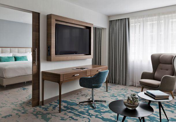 Presidential Suite Sitting Area & Bedroom