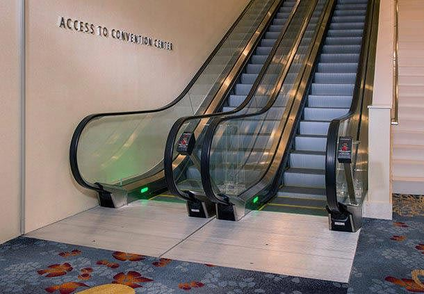 Escalator to Convention Center