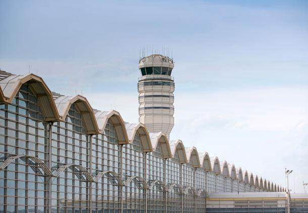 Exterior of Reagan National Airport