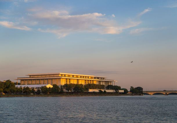 Exterior of the Kennedy Center