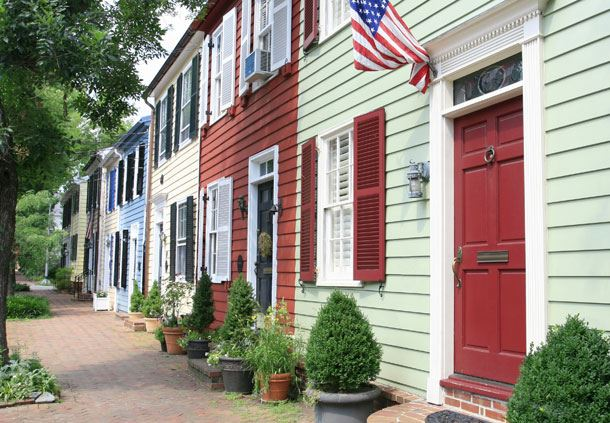 Row homes in Old Town Alexandria